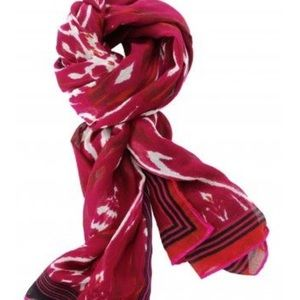Stella and Dot Palm Springs Red Ikat Scarf
